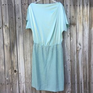 NWT St. John Collection Shimmer Dress Mint 12